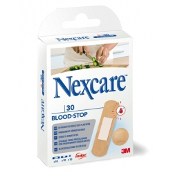 PANSEMENT NEXCARE BLOOD STOP ASSORTIMENT 30 PANSEMENTS